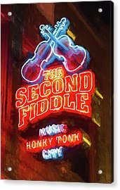 Second Fiddle - Impressionistic Acrylic Print by Stephen Stookey
