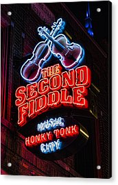 Second Fiddle Acrylic Print by Stephen Stookey