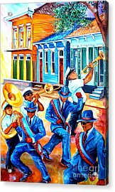 Second Line In Treme Acrylic Print