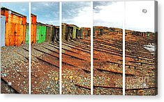 Acrylic Print featuring the photograph Second Valley Boat Sheds by Stephen Mitchell