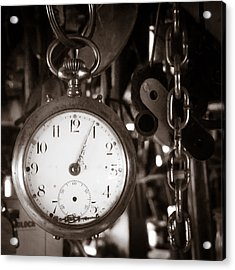 Acrylic Print featuring the photograph Seconds Past by Chris Bordeleau