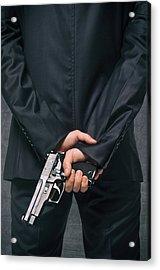 Secret Agent 4 Acrylic Print by Carlos Caetano