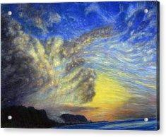 Secret Beach Sunset Acrylic Print by Kenneth Grzesik