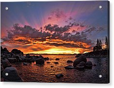 Secret Cove Sunset Acrylic Print