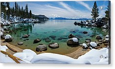 Secret Cove Winter Panorama By Brad Scott Acrylic Print