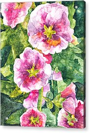 Secret Garden Acrylic Print by Casey Rasmussen White