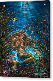 Secret Garden In The Sea Acrylic Print by Linda Olsen