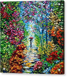 Secret Garden Oil Painting - B. Sasik Acrylic Print