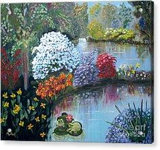 Secret Garden Acrylic Print by Phyllis Kaltenbach