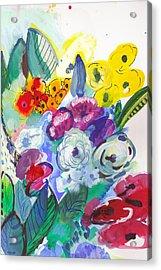 Secret Garden With Wild Flowers Acrylic Print