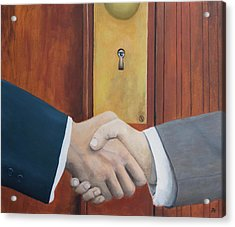 Secret Handshake Acrylic Print