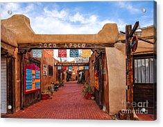 Secret Passageway At Old Town Albuquerque - New Mexico Acrylic Print
