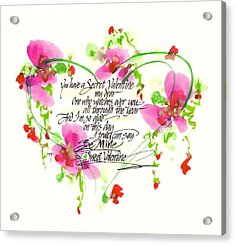 Secret Valentine Acrylic Print