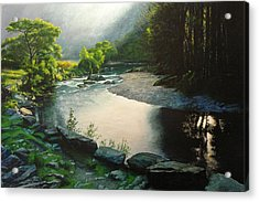 Acrylic Print featuring the painting Secret Valley by Harry Robertson