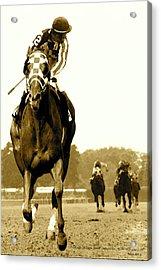 Secretariat Looking Back Belmont Stakes 1973 Acrylic Print