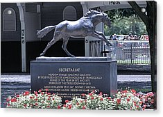 Acrylic Print featuring the photograph Secretariat by  Newwwman