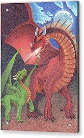 Secrets Of The Flame Acrylic Print