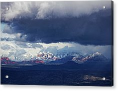 Sedona Area Third Winter Storm Acrylic Print