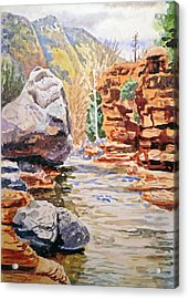 Sedona Arizona Slide Creek Acrylic Print by Irina Sztukowski