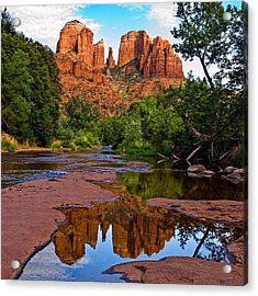 Sedona Cathedral Rock Reflections Acrylic Print