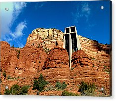 Sedona Chapel Of The Holy Cross Acrylic Print by Cindy Wright