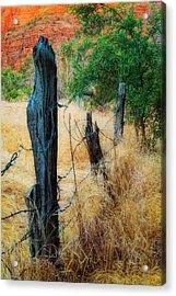 Sedona Fence And Field Acrylic Print