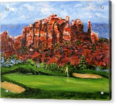 Sedona Golf Acrylic Print by Thomas Restifo