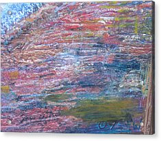 Sedona Mesa Strata  Acrylic Print by Anne-Elizabeth Whiteway