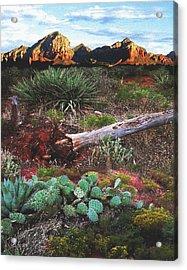 Sedona Mountain Sunrise Acrylic Print
