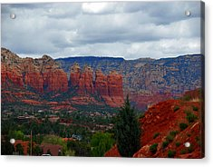 Sedona Mountains Acrylic Print by Susanne Van Hulst