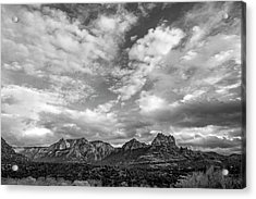 Acrylic Print featuring the photograph Sedona Red Rock Country Bnw Arizona Landscape 0986 by David Haskett