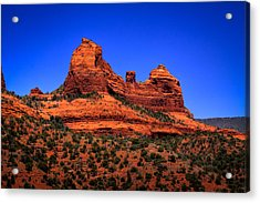 Sedona Rock Formations Acrylic Print by David Patterson