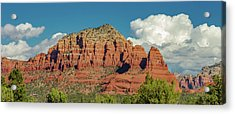Sedona, Rocks And Clouds Acrylic Print by Bill Gallagher