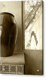 Acrylic Print featuring the photograph Sedona Series - Jug And Window by Ben and Raisa Gertsberg