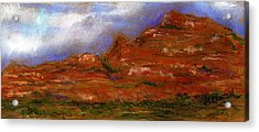Acrylic Print featuring the painting Sedona Storm Clouds by Marilyn Barton