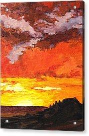 Sedona Sunset 2 Acrylic Print