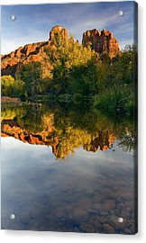 Sedona Sunset Acrylic Print by Mike  Dawson