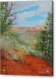 Acrylic Print featuring the painting Sedona Trail by Mike Ivey