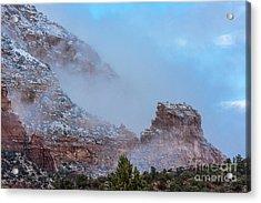 Acrylic Print featuring the photograph Sedona Winter by Sandra Bronstein