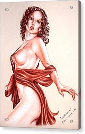 Seductrice Acrylic Print by Vera Sayous