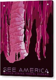See America - Carlsbad Caverns - Pink Acrylic Print