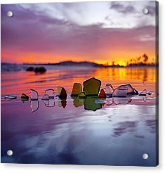 See Glass Sunset Acrylic Print