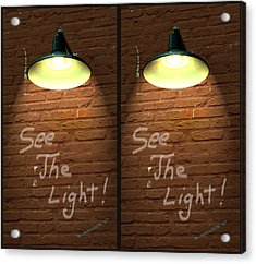 See The Light - 3d Stereo X-view Acrylic Print
