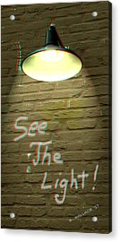 See The Light - Use Red-cyan 3d Glasses Acrylic Print