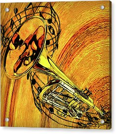 See The Sound Series Trumpet Acrylic Print by Jack Zulli