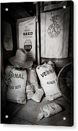 Seed Bags At The Farm Acrylic Print