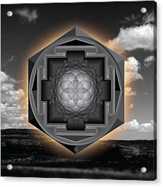 Seed Of Life Desert Mandala Acrylic Print by Milton Thompson