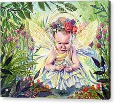 Seedling Acrylic Print by Sara Burrier