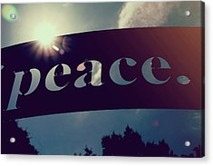 Acrylic Print featuring the photograph Seek Peace And Pursue It by Joel Witmeyer
