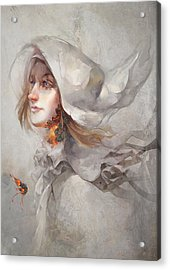 Seek V1 Acrylic Print by Te Hu